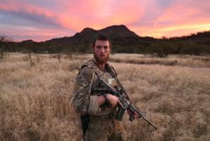A civilian paramilitary volunteer