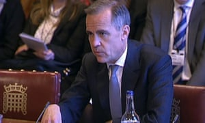 Dr Mark Carney, Governor of the Bank of England, giving evidence to the House of Lords Economic Affairs Committee