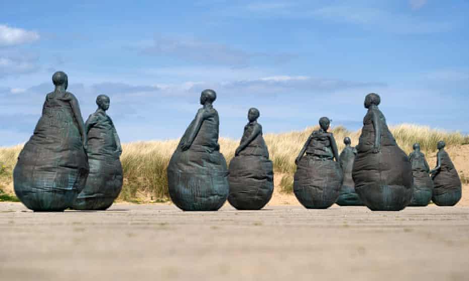 Nine bronze statues, South Shields.
