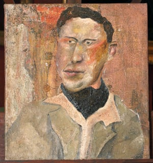 The painting attributed to Lucian Freud.