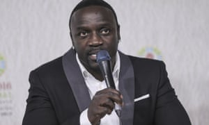 Akon, whose real name is Aliaune Thiam, is an international music star.