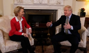 Boris Johnson with the EU commission president, Ursula von der Leyen: 'He is determined to avoid extending the transition period because he wants to frame Brexit as finished business. But he also wants a deal with the EU.'