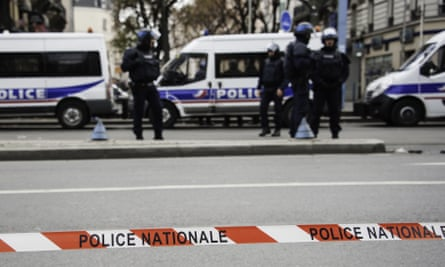 Police on the streets of Paris.