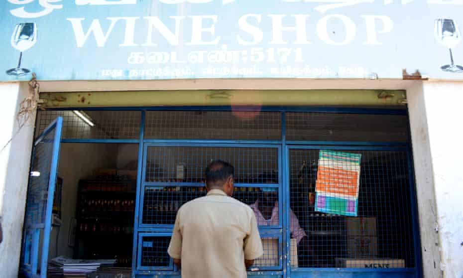 A wine shop on Kalavasah Teni road in the south Indian city of Madurai.