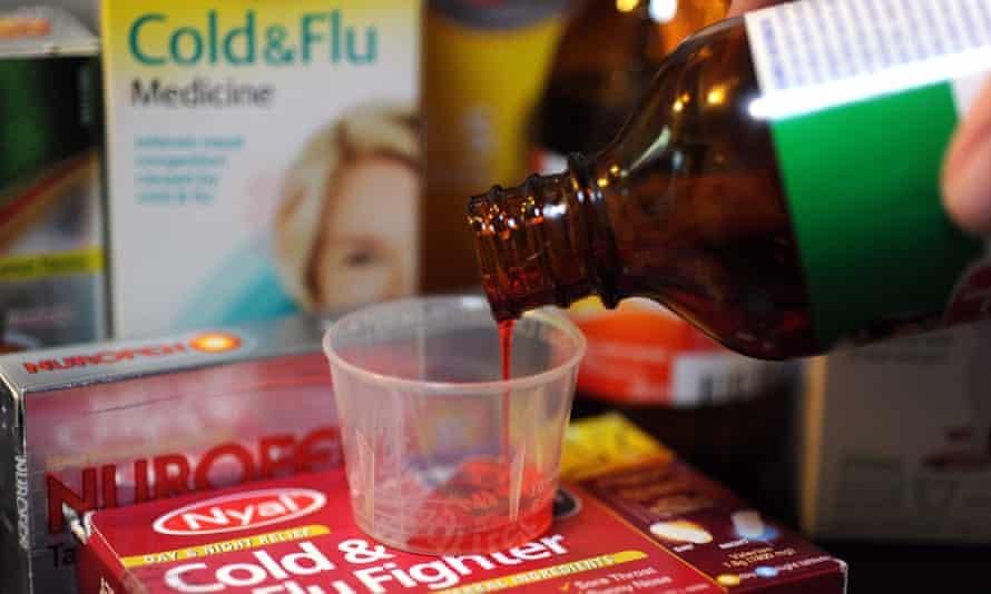 Non-prescription cold and flu products
