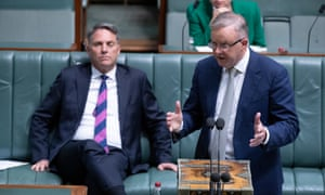 Anthony Albanese talks during question time in the House of Representatives on Thursday