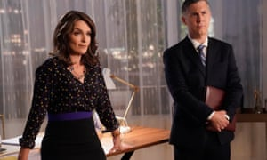 Tina Fey as Diana and Chris Parnell as Gerald in season two of Great News.