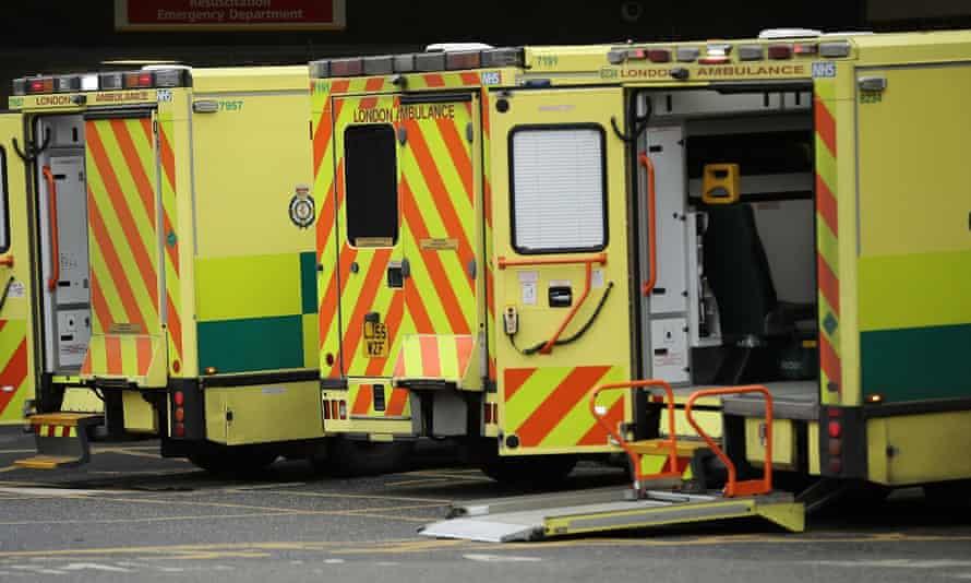 Ambulances outside hospital