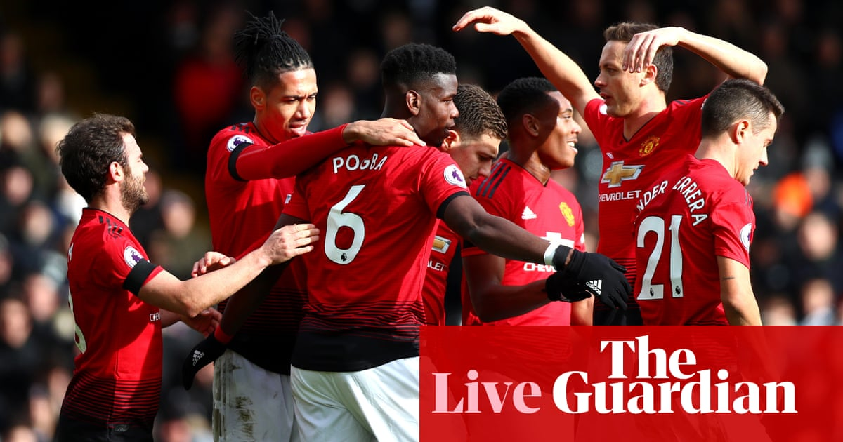 Fulham 0-3 Manchester United  Premier League – as it happened ... a7a9be5a1