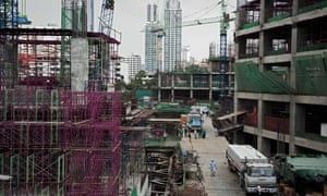 A construction site in Bangkok, Thailand