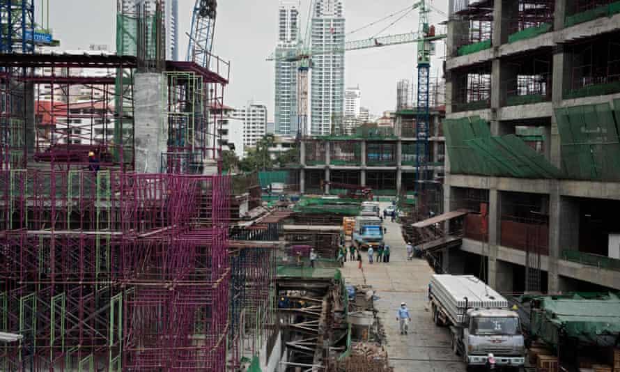 A construction site in Bangkok, Thailand