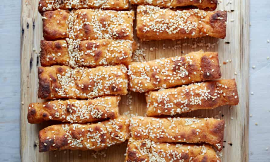 Sweet potato soft breadsticks