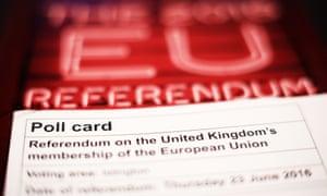 EU referendum poll card