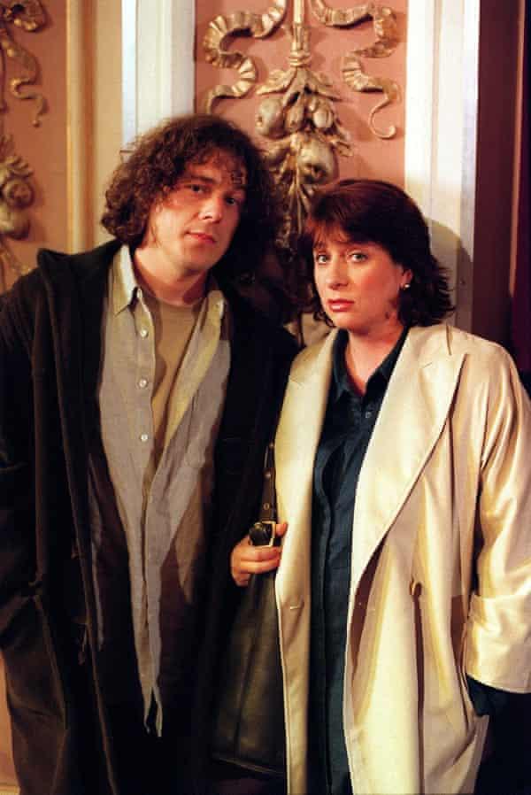 Caroline Quentin with her Jonathan Creek co-star Alan Davies