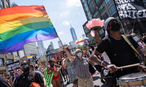 The Queer March for Black Lives in New York City, in June.