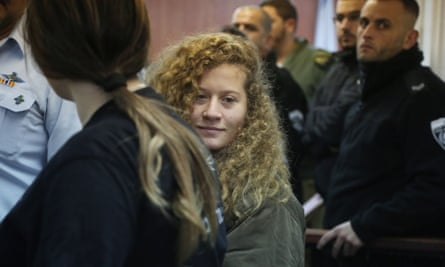 Ahed Tamimi appears in court.