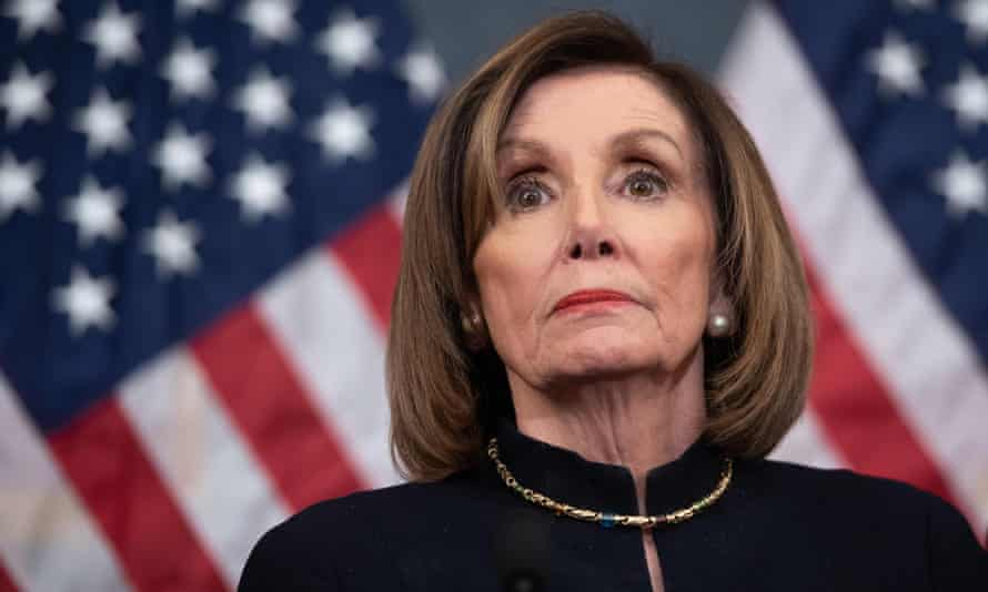 Nancy Pelosi holds a press conference after the House passed articles of impeachment against Donald Trump.