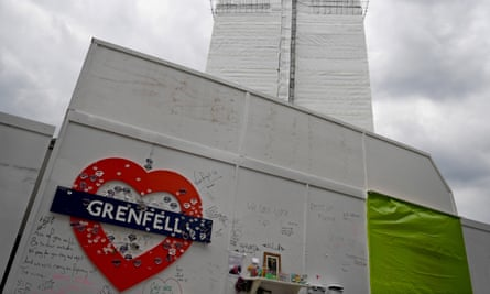 A view of the Grenfell Tower in London