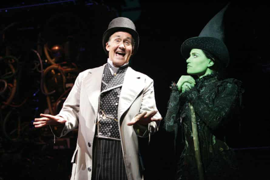 Nigel Planer with Idina Menzel in Wicked at the Apollo Victoria in London in 2006.
