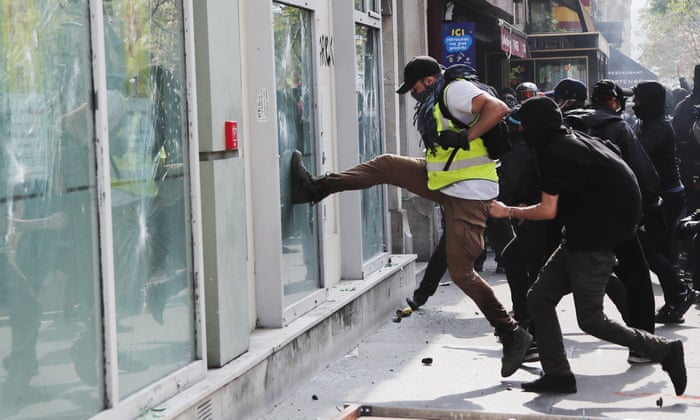 Clashes as May Day protesters march in cities across Europe
