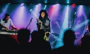 DJ Yoda & Eva Lazarus onstage at Òran Mór.