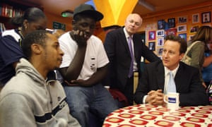 David Cameron and Iain Duncan Smith at a Kids Company drop-in centre in 2007