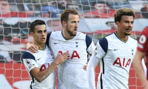 Tottenham Hotspur players Sergio Reguilón, Harry Kane and Dele Alli sport the AIA logo in their 6-1 Premier League win against Manchester United in October.