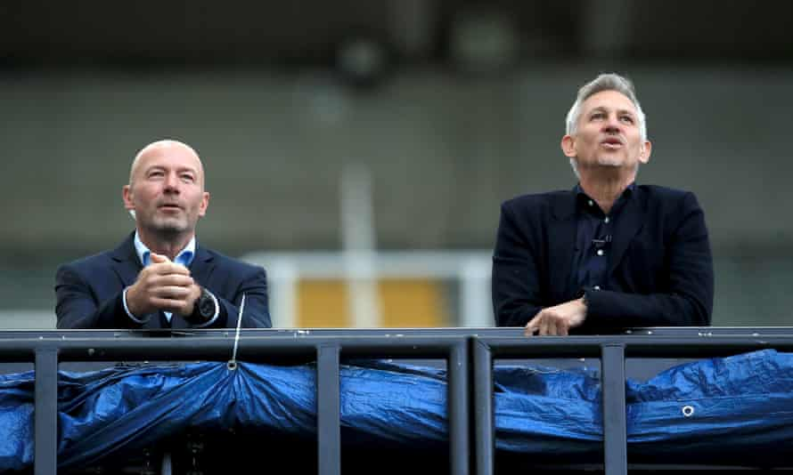 Gary Lineker (right) is again listed as the BBC's highest-earner, while Alan Shearer (left) earns £390,000 for his work as a BBC football pundit.