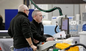 Workers on Novograf's factory floor in East Kilbride
