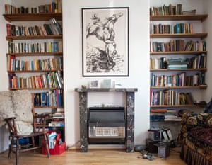 'It was bloody hard work' … a rescued home on Cairns Street, with a fireplace made of reclaimed rubble.