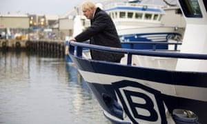 Boris Johnson aboard the Opportunus IV fishing trawler in Peterhead, Scotland