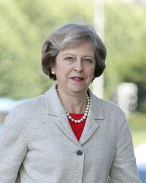 Theresa May, Cardiff, Wales, July 18