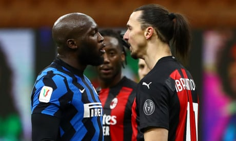 Ibrahimovic sent off before Eriksen free-kick for Inter sends Milan out of cup