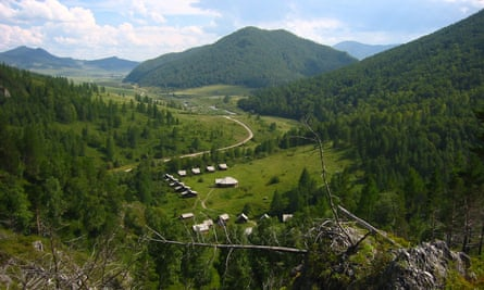 Site of the Denisova Cave in Altai Mountains of southern Siberia.