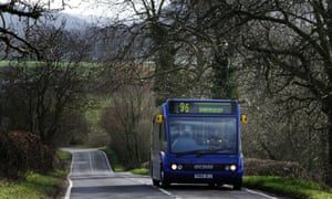 A rural bus in Shropshire. Our readers warned against further public transport cuts