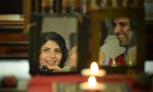 Our Iranian Lockdown documentary. Filmmakers Sara Khaki and Mohammad Reza Eyni at home.
