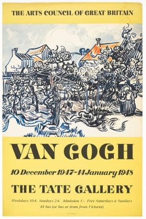 Vincent van Gogh exhibition poster Tate Gallery 1947 © Tate, 2018