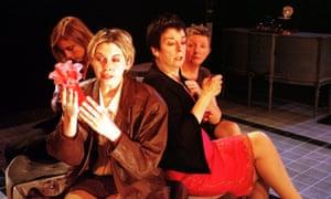 From left: Faith Flint as Kathryn, Eileen Walsh as Gilma, Mary Cunningham as Micheleine and Myra McFadyen as Genevieve in Splendour at the Traverse, Edinburgh, in 2000.