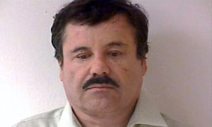 """Mexican drug lord Joaquin """"El Chapo"""" Guzman Loera, pictured after being recaptured six months after he escaped from a maximum-security jail."""