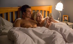 Uncomfortably smug … Orlando Bloom and Malin Ackerman decide to have a threesome.