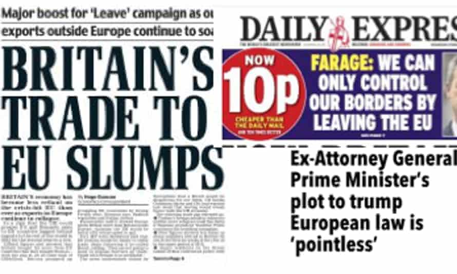 The drips... EU stories on Wednesday in the Daily Mail, Daily Express and on the Sun website.