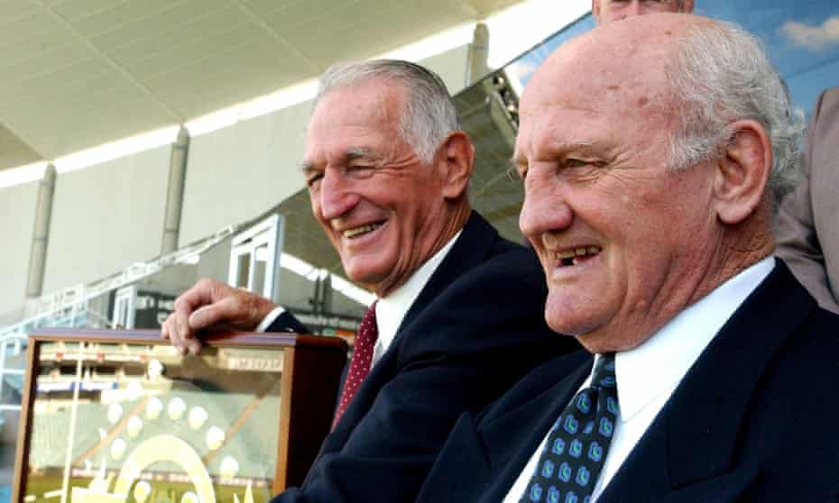Norm Provan (left) has died a year after fellow rugby league icon Arthur Summons passed away.