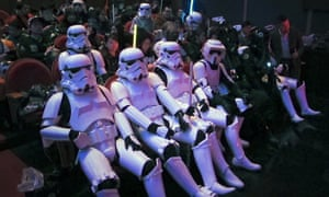 fans await the premiere of Star Wars: The Force Awakens.