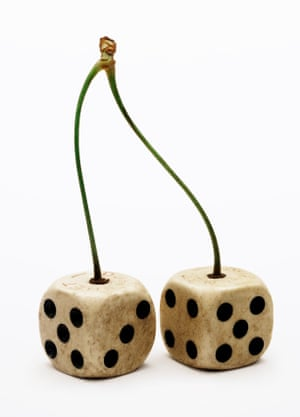 Cherry Dice, 2011, by Nancy Fouts.