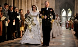 Claire Foy as the future Queen and Jared Harris as her father George VI in The Crown.