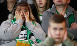 This Celtic supporter can hardly watch.