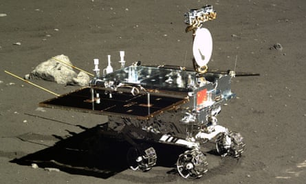 In 2013, China's Chang'e 3, deploying the Jade Rabbit rover, makes the first soft landing on the Moon since 1976. Chang'e 4 is set for lift-off in 2018