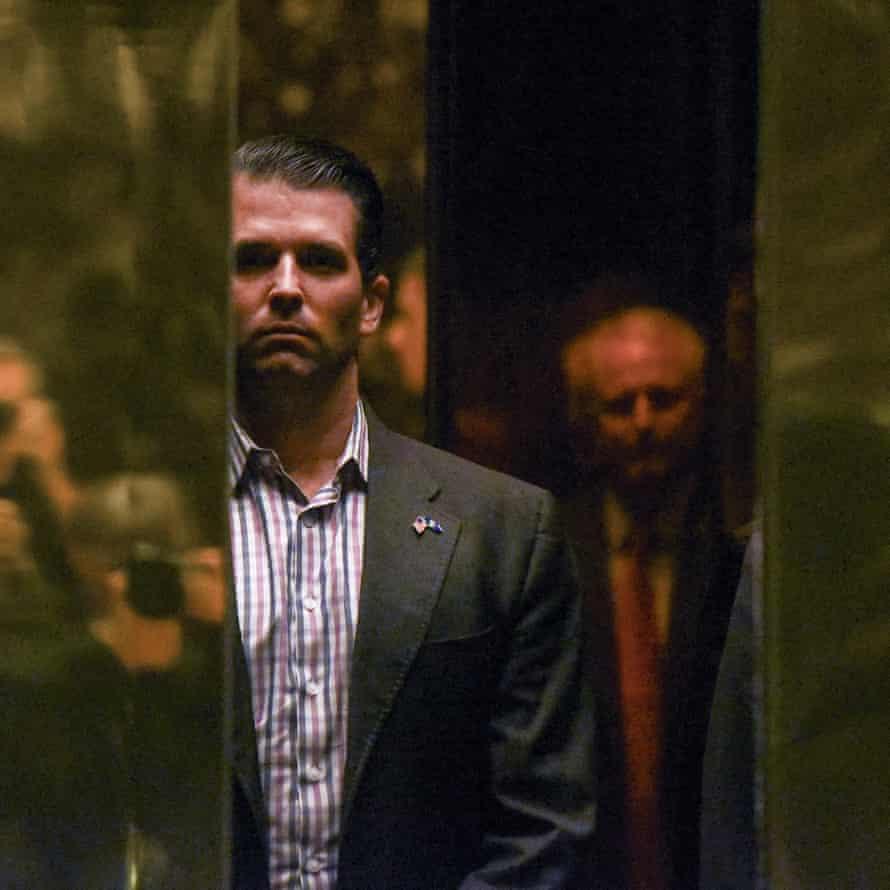 Donald Trump Jr arrives at Trump Tower, New York City