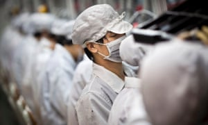 Production line at Hon Hai Precision Industry Co Ltd, Shenzhen, China.