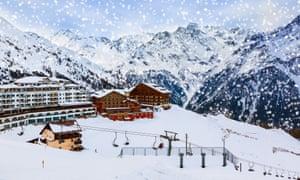 Mountains ski resort Solden